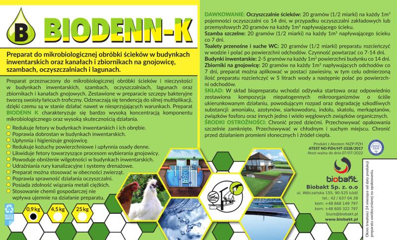 Etykieta Biodenn-K